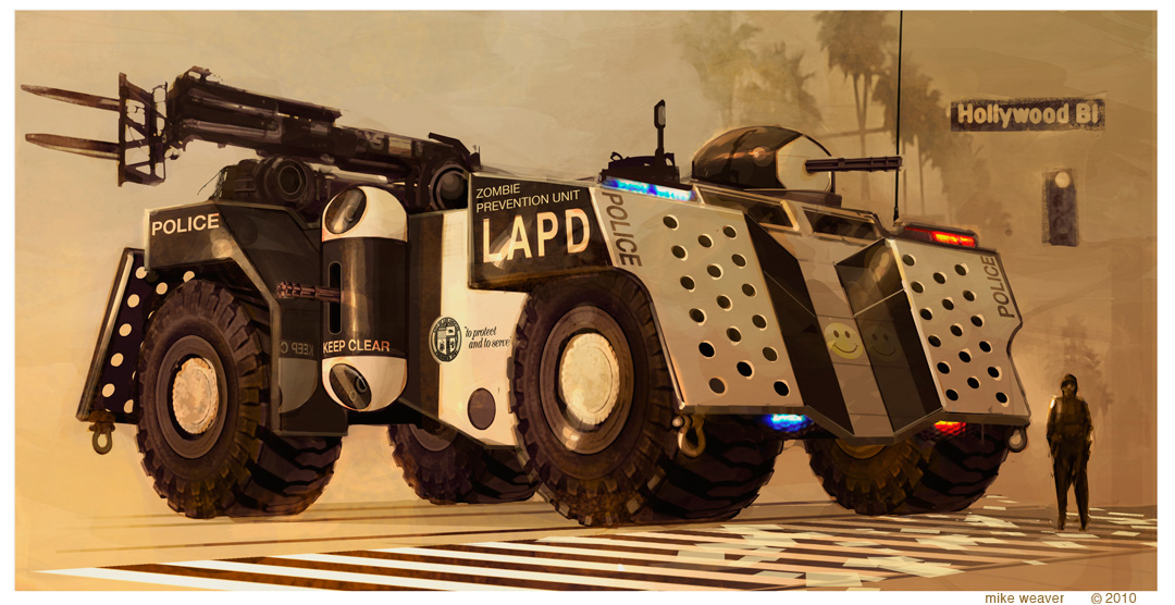vehicle design LAPD Anti Zombie Unit
